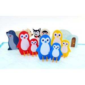 Jeu de reconnaissance de couleurs et de tailles - EN AVANT LES PINGOUINS !